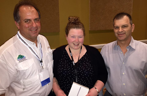 Elizabeth Hansel from Environmental Resources Management won the iPad Mini 3